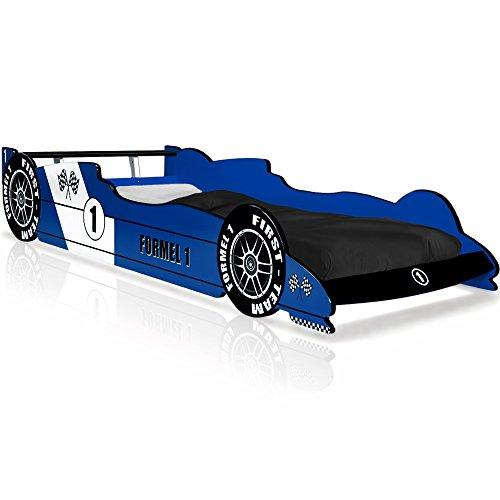 Kinderbett Rennbett Blau - Formel 1 Autobett Rennwagen Bett