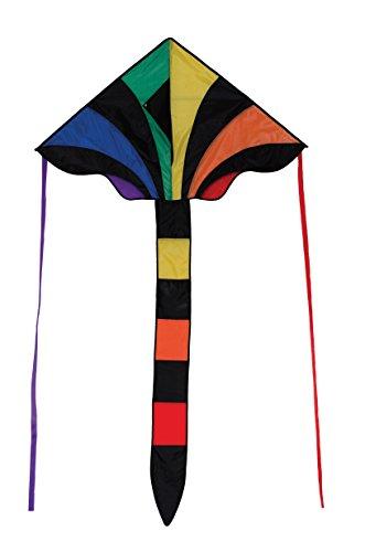 In the Breeze 2903 Rainbow Sparkler 46 Inch Fly-Hi Delta Kite-Single Line