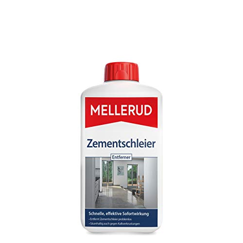 MELLERUD Zementschleier Entferner – Effizientes Reinigungsmittel gegen Zementschleier, Zementreste und viele weitere Verschmutzungen – 1 x 1 l