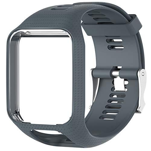 Voghtic - Cinturino di ricambio per TomTom Runner 2/Runner 3/Spark 3/Golfer 2/Adventurer, colore: grigio, cod. Voghtic12