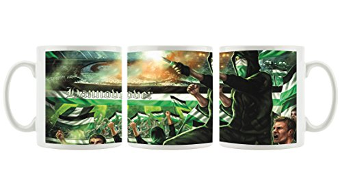 Ultras Hannover Collage 2 als Bedruckte Kaffeetasse/Teetasse aus Keramik, 300ml, weiß