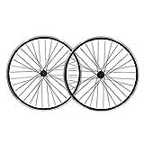 Juego de ruedas de bicicleta de 26 ', rueda de bicicleta negra, neumáticos de llantas de aleación de doble pared MTB 1.75-2.1' V- Freno 7-11 Concentrador sellado de velocidad 32h ( Size : Wheel set )