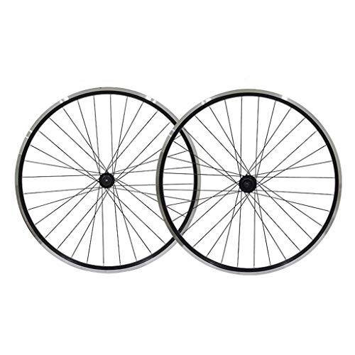 CWYP-MS 26' Bicycle Wheel Set, Black Bike Wheel, MTB Double Wall Alloy Rim Tires 1.75-2.1' V- Brake 7-11 Speed Sealed Hub Quick Release 32H (Size : Wheel set)