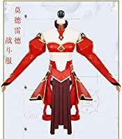 Fate/Grand Order モードレッド 戦闘服 赤のセイバー コスプレ衣装 女SM L XL(ウィッグ靴別売り)