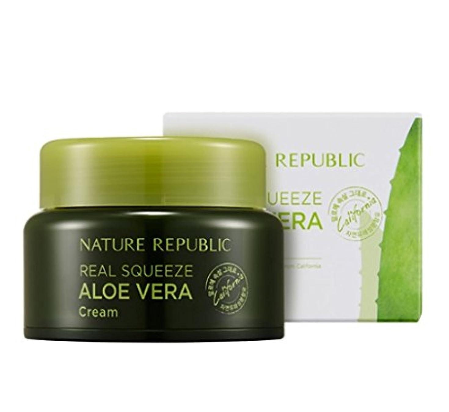 お嬢新鮮なテメリティ[Nature Republic]ネイチャーリパブリック[Real Squeeze Aloe Vera Cream](リアルスクィーズアロエベラクリーム) [並行輸入品]