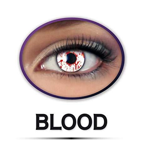KarnevalsTeufel Fun-Linsen Blood Kontaktlinsen getönt Blut Halloween Zombie