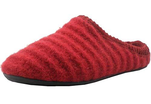 HAFLINGER Damen Hausschuhe Wolle Pantoffeln Everest Arc 481067, Größe:40 EU, Farbe:Rot