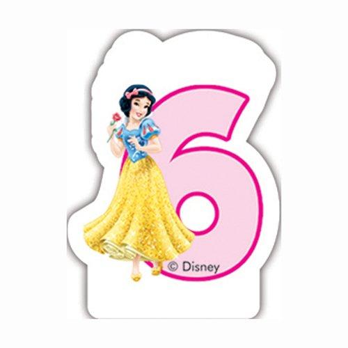 Bougie Princesse Disney Anniversaire 6 ans