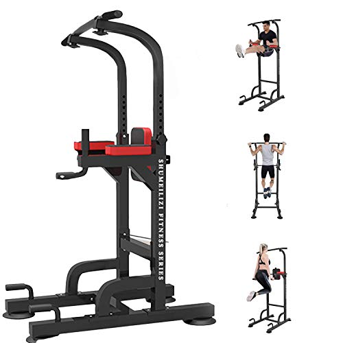 WSSW Power Tower Dip Station Pull Up Bar for Home Gym Adjustable Height Strength Training...