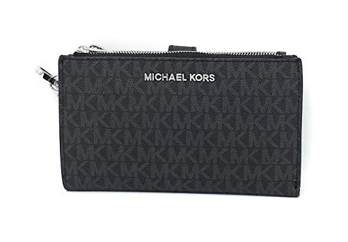 Michael Kors Jet Set Travel double Zip Wristlet - Vanilla/Acorn