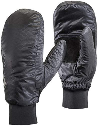 Black Diamond Stance Mitts Handschuhe für Skitouren oder Wanderungen / Wind- & wasserfester Fausthandschuh mit Ziegenleder Handflächen / Black, Größe: M