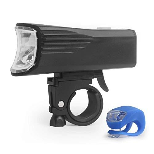 Fahrradbeleuchtung 1500mAh Lithium-Batterie Wiederaufladbare Scheinwerfer 350 Lumen XPG Fahrrad-Licht-Set Fahrradzubehör