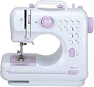 Portable Multifunction Sewing Machine with Foot Pedal,Mini 12 Stitches 2 Speed Heavy Duty Sew Machine, Electric Handheld Quilting Embroidery Overlock Quick Free-Arm Crafting Mending Sewing Machine Household Sewing Tool
