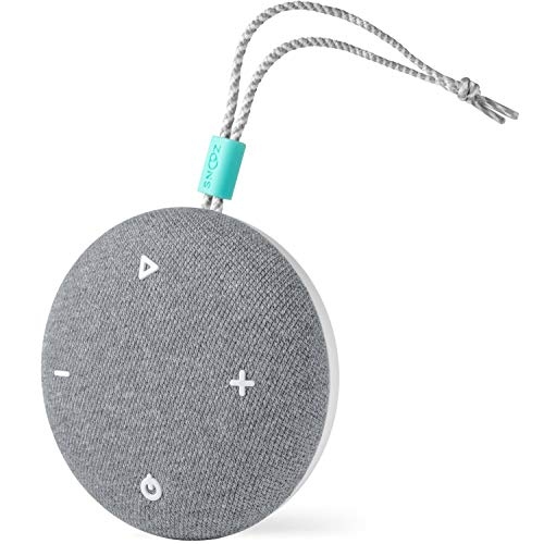 SNOOZ Go - Travel White Noise Sound Machine - Portable, Non-Looping White Noise, Pink Noise, and Fan Sounds Plus Bluetooth Speaker - Charcoal