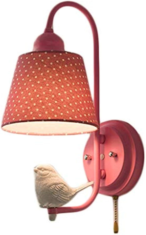 WXH-Wandbeleuchtu Nachttisch Moderne und einfache Ganglichter Wohnzimmer Schlafzimmer Wandleuchte Creative Angel Bird Wandleuchte (Farbe   A)