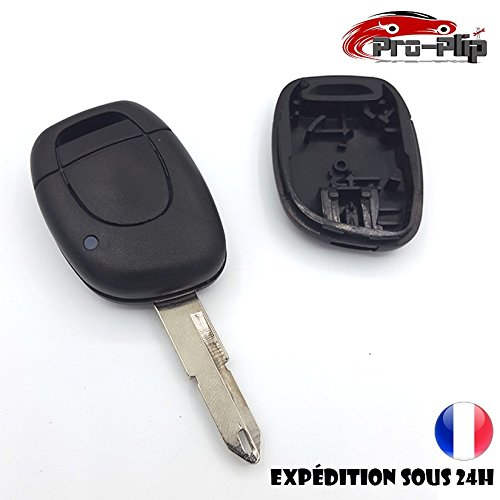 CLE PLIP Compatible avec Renault Twingo Clio Master Kangoo Espace Laguna Megane 1 Bouton n°1 @Pro-Plip