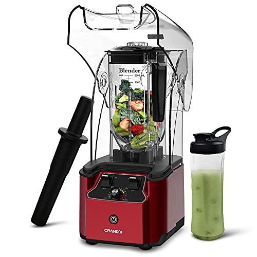 CRANDDI Quiet Shield Blender,Countertop Blenders for Kitchen,2200W, 80 oz BPA-free,Smoothie Maker...