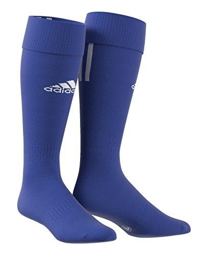 adidas Herren Fußballsocken Santos 3-Stripes, Blau (Cobalt/White), 46-48, Z56223