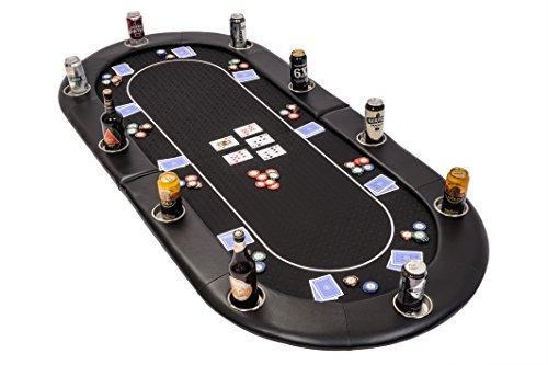 Riverboat Faltbare Pokerauflage mit Schwarzem wasserabweisenden Stoff und Tasche – Pokertisch 200cm - 8