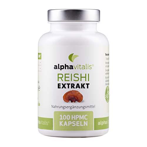 Reishi Extrakt - 100 vegane Kapseln - laborgeprüft - 500 mg Ganoderma Lucidum mit 30% bioaktiven Polysacchariden je Kapsel - ohne Magnesiumstearat