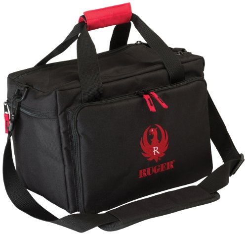 Allen Ruger Shooting Range Bag with Pistol Rug, MOLLE Loops & Ammo Carrier