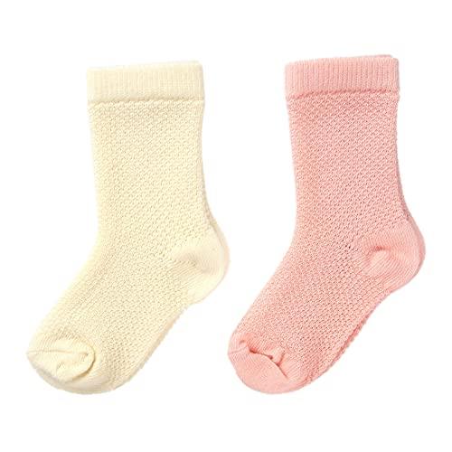 Ebebek HelloBaby - Calcetines de bebé unisex con certificado orgánico, suaves, transpirables y cómodos hasta 0 – 2 años – 2 pares