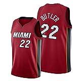 Dsti Miami Heat #22 Jimmy Butler Camiseta de Baloncesto para Hombres Retro Chaleco de Gimnasia Top...
