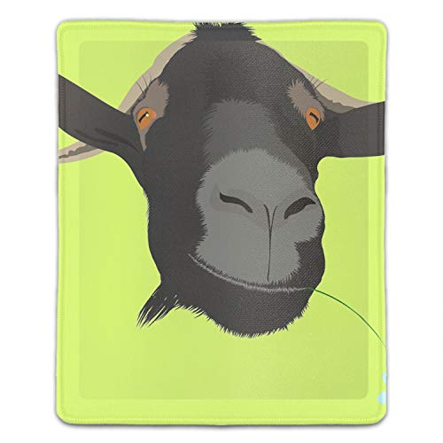 Mouse Pad Funny Mousepad Cool Goat with Flower Creative Designed Gaming Mouse Pad for Office/Home 8.66 x 7.08 inch