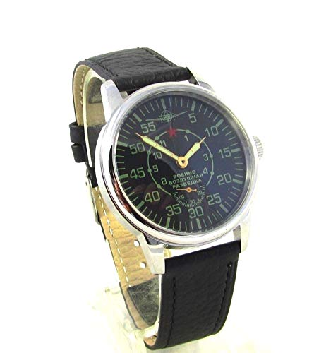 Pobeda Air Force Mens Vintage Wrist Watch Limited 1960s USSR Rare Serviced (Standard Strap)