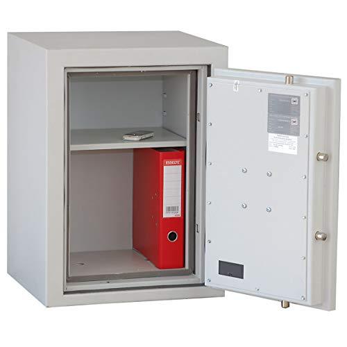 Sicherheitsschrank aus Stahl - VDMA A, S1, LFS 30 P - HxBxT 670 x 490 x 455 mm - Aktenschrank Feuerschutz Feuersichere Tresore Feuersicherer Tresor Safe Sicherheitsschrank