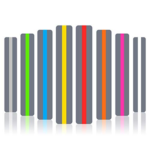 Guided Reading Strips/Colored Overlay/Highlight Strips/Highlighter/Bookmark/Assorted Colors Help with Dyslexia for Children and Teacher Supply Assistant (8 Pack)