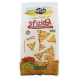 Matt SfizioSì Riso Integrale, Pomodori e Piselli Bio Croccanti Snack Salati Non Fritti - 100 g