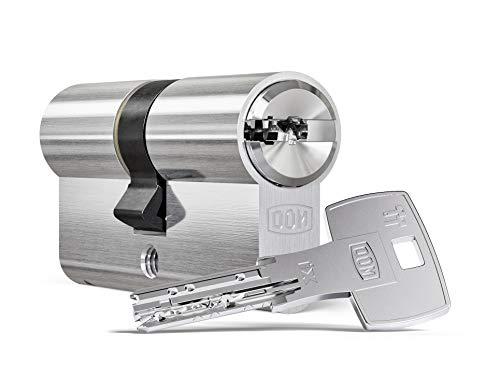 DOM ix Teco® Doppelzylinder mit Not- und Gefahrenfunktion 50/70 inkl. 5 Schlüssel - Sicherheits-Türzylinder - Sicherungskarte - Wendeschlüssel mit hohem Kopierschutz (Einzelschließung)