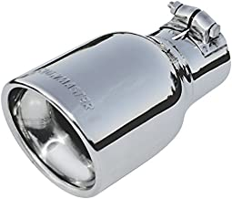 Flowmaster 15365 Exhaust Tip - 4.00 in. Rolled Angle Polished SS Fits 2.50 in. Tubing - clamp on