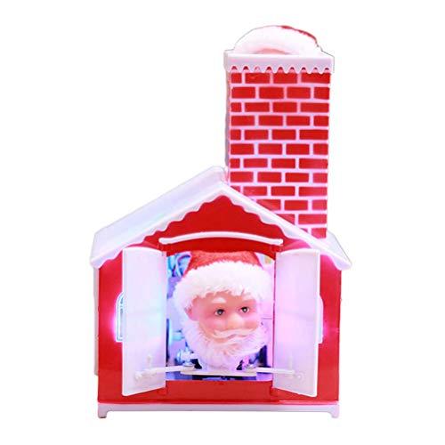 Kylewo Bambola di Babbo Natale Elettrico con Musica, Musica di casa Bambola di Babbo Natale Musica elettrica Decorazioni di Babbo Natale Regalo