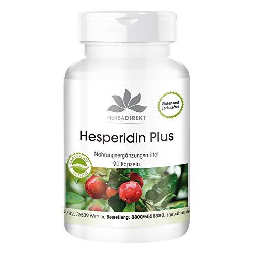 Hesperidin Plus mit Acerola und Naringin - Grapefruit-Kern Extrakt 500mg - 45% Flavonoide - vegan - hochdosiert - 90 Kapseln