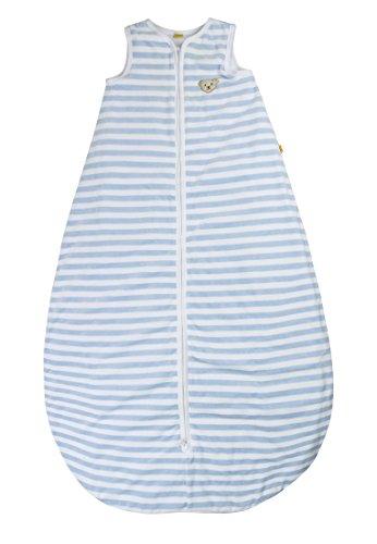 Steiff 0002888 Unisex - Baby Schlafsack, Gestreift Nicky, Gr. 90Cm, Hellblau