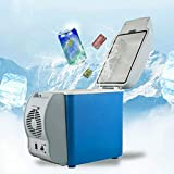 Mini Car Refrigerator, 12V 7.5L Multi-Function Portable Refrigerator Cooler Warmer Heating Electric Fridge Box for Travel, Fishing