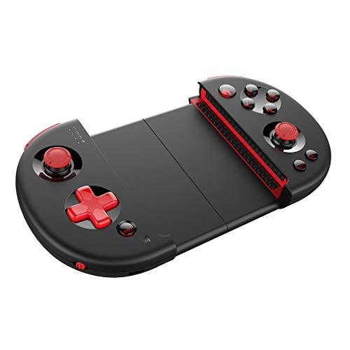 MYYINGELE sans Fil Wireless Manette,Portable Contrôleur de Jeu Gamepad avec Support de Téléphone Rétractable et Fonction Turbo pour PC et Android Android/iOS