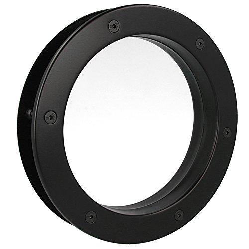 MLS Bullauge B4000 A8 Rundfenster Aluminium schwarz matt Ø 35 cm Glas klar 0180-0142-A8
