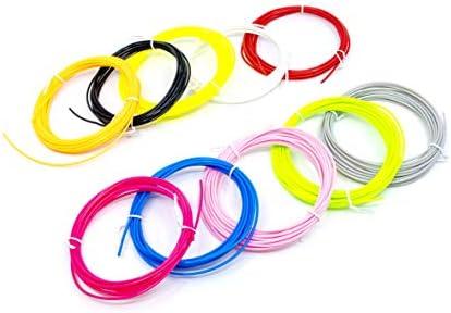 SCRIB3D 3D Printing Pen PLA Plastic Filament Refill Pack 10 Assorted Colors 3m Each product image