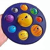 Hopowa Pop it Fidget Toy, Juguete sensorial antiestrés Juguete de descompresión de 8 Planetas 17x17 cm
