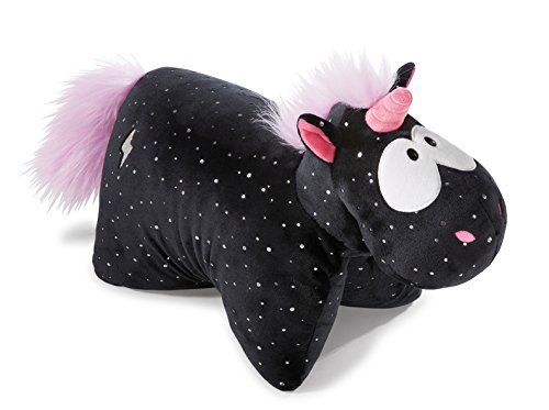 NICI 41426 Theodor and Friends Kuscheltier-Kissen Einhorn Carbon Flash, 40 x 30 cm