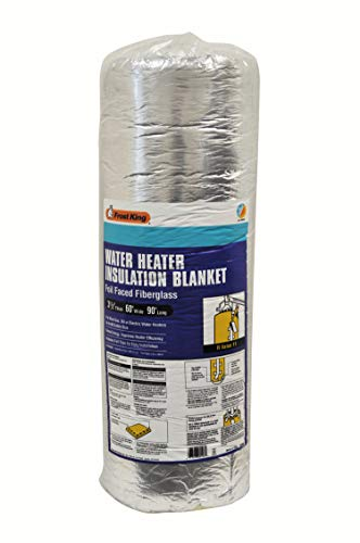 """Frost King SP60 All Season Water Heater Insulation Blanket, 3"""" Thick x 60"""" x 90"""", R10, Silver"""