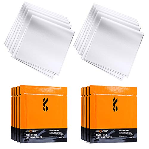 K&F Concept Microfiber Cleaning Cloths 10-Pack Individually Vacuum Wrapped for Camera Lens, Eyeglasses, Cell Phones, Computers, LCD Screens, Cars and More