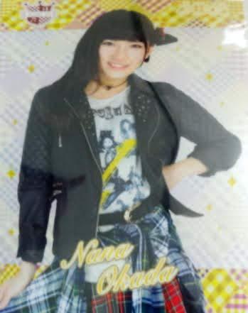 AKB48 岡田奈々 クリアファイル 1409 CAFE&SHOP