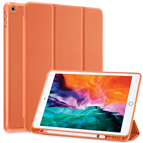 SIWENGDE Case for iPad 10.5 Inch Air (3rd Gen) 2019, Ultra Slim Lightweight Stand Smart Case with Pencil Holder, Auto Sleep/Wake,Full Body Protective Cover for iPad Air 3 10.5 In (Orange)