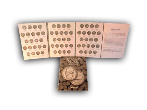 H.E. Harris Jefferson Nickels 1938-1961 HE Harris Coin Folder