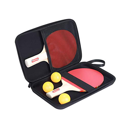 Best Price! QEES Table Tennis Paddle Case, Black 11.4x7.8 Durable Ping Pong Paddles Bag, Full Prot...