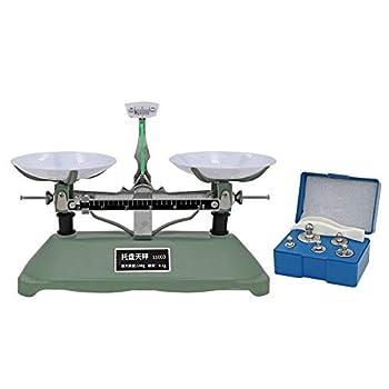 Lab Mechanical Balance Scale Double Pan Balance Scale Balance Tray Table Mechanical Balance Scale for Laboratory School